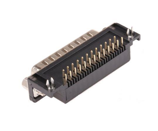 RS 25 Way Right Angle Rectangular Connector Plug 544-3985
