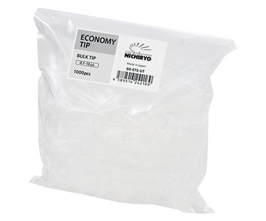 エコノミーチップ 0.1~10μL用 1000本入(バルク)×10袋  00-ETS-UT10
