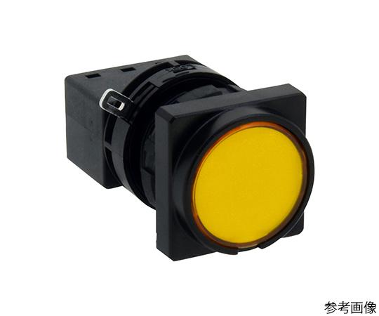 Φ22LWシリーズ押ボタンスイッチ角丸形(平形ボタン)  LW3B-M1C1LY