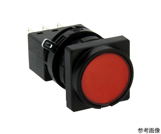 Φ22LWシリーズ押ボタンスイッチ角丸形(平形ボタン)  LW3B-M1C1VLR