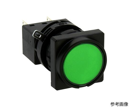 Φ22LWシリーズ押ボタンスイッチ角丸形(平形ボタン)  LW3B-M1C6LG