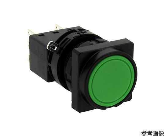 Φ22LWシリーズ押ボタンスイッチ角丸形(平形ボタン)  LW3B-M1C7G