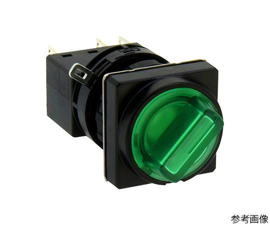 Φ22LWシリーズ照光セレクタスイッチ(角丸形)90°2ノッチ  LW3F-2C34VG