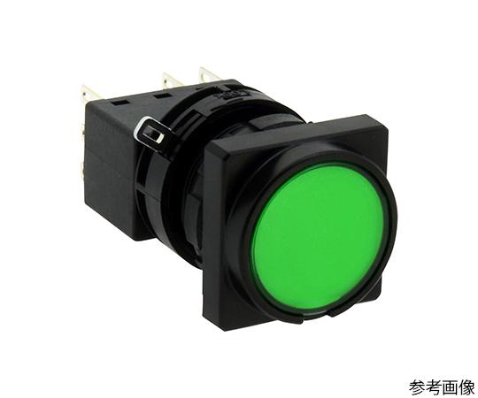 LWシリーズ照光押ボタンスイッチΦ22(角丸形平形レンズLED)オルタネイト形  LW3L-A1C14VG