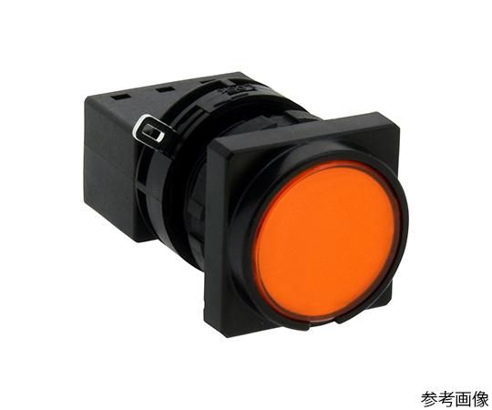 LWシリーズ照光押ボタンスイッチΦ22(角丸形平形レンズLED)オルタネイト形  LW3L-A1C23VA