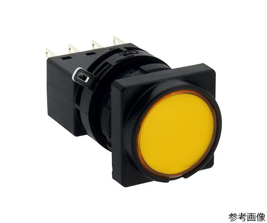 LWシリーズ照光押ボタンスイッチΦ22(角丸形平形レンズLED)オルタネイト形  LW3L-A1C62MY