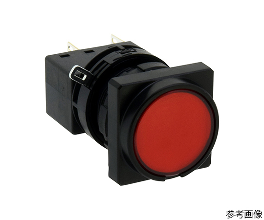 LWシリーズ照光押ボタンスイッチΦ22(角丸形平形レンズLED)モメンタリ形  LW3L-M1C72R