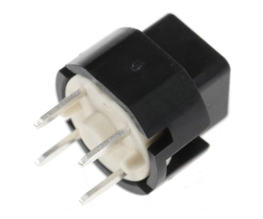 SPST-NO Black Momentary Action Switch, 100 mA@ 32 V, -20 → +85°C D6C90 F1 LFS