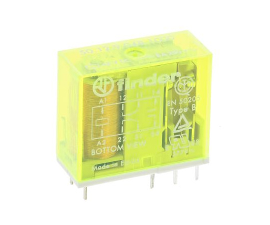 Finder50 Series DPDT Non-Latching Relay PCB Mount, 48V dc Coil, 8A 50.12.9.048.1000