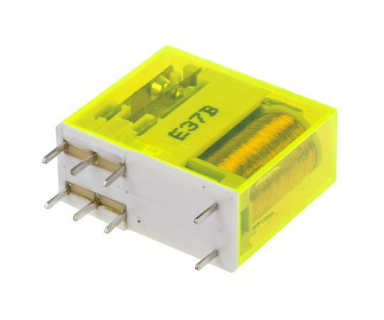 Finder50 Series DPDT Non-Latching Relay PCB Mount, 24V dc Coil, 8A 50.12.9.024.1000