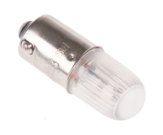 T10 Orange Filament Indicator Lamp, BA9s, 220/250 V 4.5 mA 105-039
