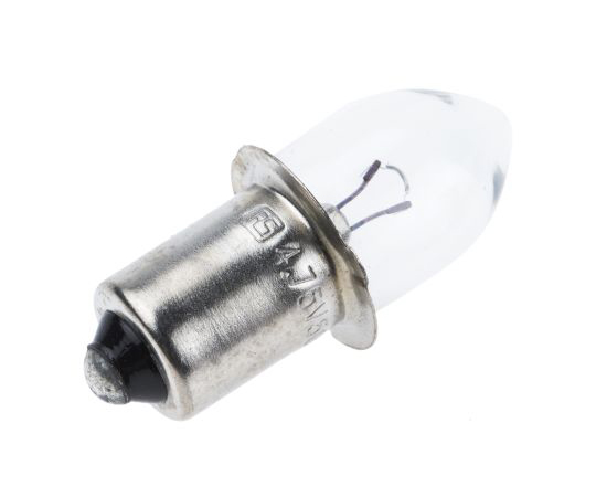 [Discontinued]P13.5s Indicator Light, Clear, 4.75 V, 500 mA, 20h 105-152