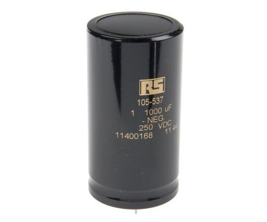 KEMET 1000μF 250V dc Aluminium Electrolytic Capacitor, Through Hole 40 x 75mm +85°C 40mm 75mm ALP20A102DE250