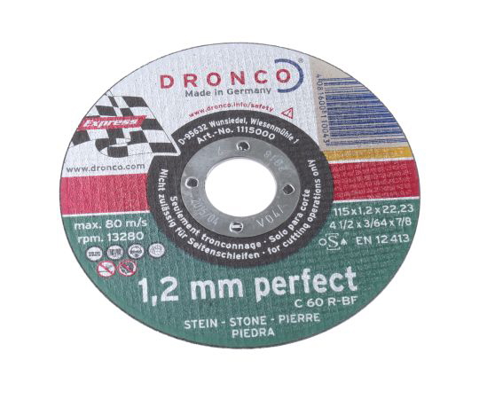 [Discontinued]DRONCO Cutting Disc, 115mm Diameter, 1.2mm Thick 1115000