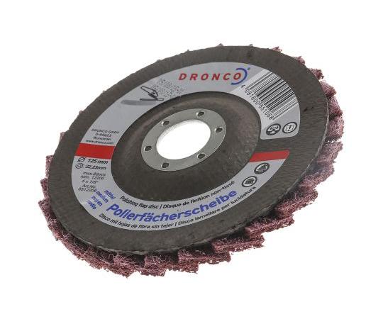 [Discontinued]DRONCO Zirconium Dioxide Medium Flap Disc, 80 Grit, 125mm x 22mm Bore 5542206100