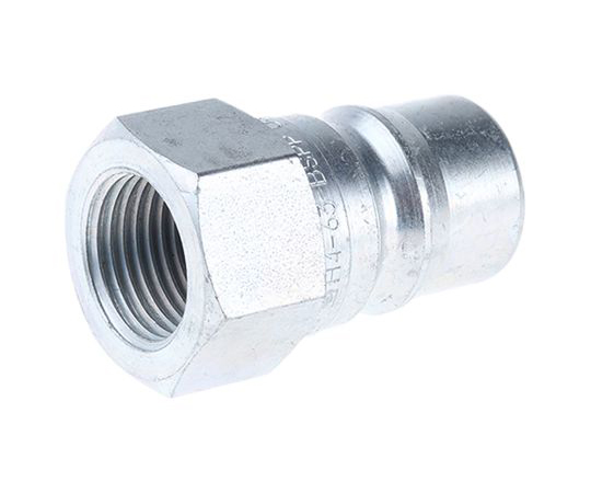 Parker Steel Male Hydraulic Quick Connect Coupling H4-63-BSPP 1/2 in H4-63-BSPP
