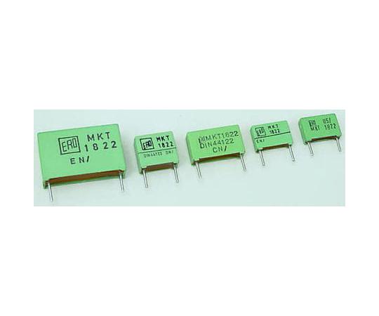 Vishay 1μF Polyester Capacitor PET 160 V ac, 250 V dc ±10% MKT 1822 Series Through Hole MKT1822-510/255
