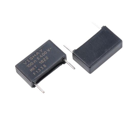 Vishay 100nF Polyester Capacitor PET 200 V ac, 400 V dc ±10% MKT 1822 Series Through Hole MKT1822-410/405