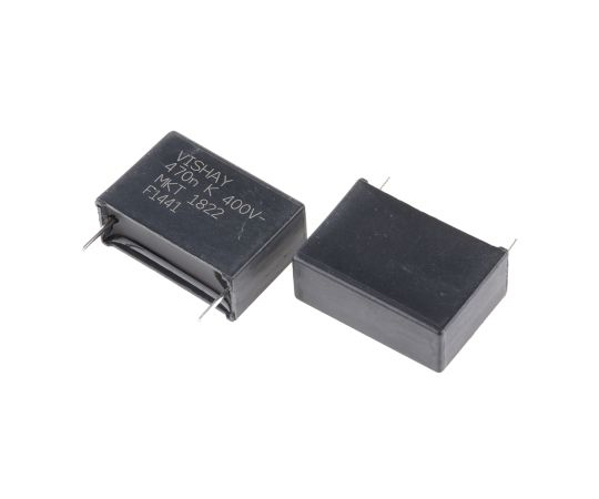 Vishay 470nF Polyester Capacitor PET 200 V ac, 400 V dc ±10% MKT 1822 Series Through Hole MKT 1822-447//405