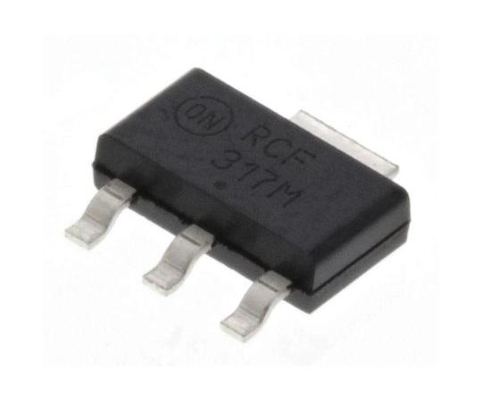 正電圧 3端子レギュレータ 1.2~37 V 250mA 可変出力 表面実装 SOT-223 3+Tab-Pin  LM317MSTT3G