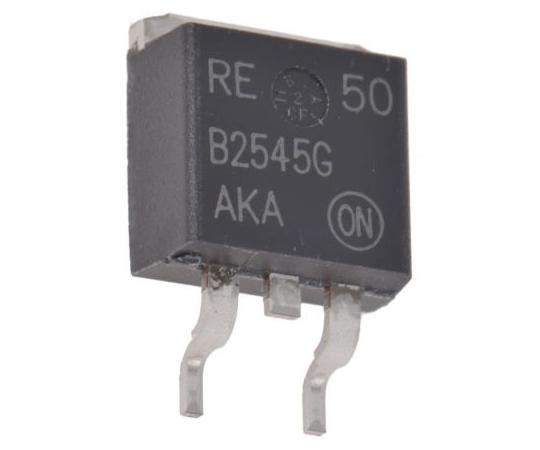 オンセミ ショットキーバリアダイオード コモンカソード 30A 45V 表面実装 3-Pin  MBRB2545CTG
