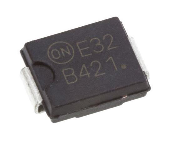 オンセミ ショットキーバリアダイオード 4A 200V 表面実装 2-Pin DO-214AB (SMC)  MBRS4201T3G