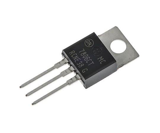 正電圧 3端子レギュレータ 6 V 2.2A 固定出力 スルーホール TO-220 3-Pin  MC7806CTG