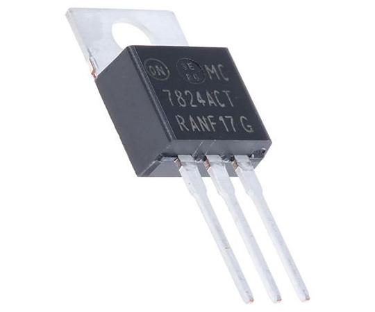 正電圧 3端子レギュレータ 24 V 1A 固定出力 スルーホール TO-220 3-Pin  MC7824ACTG