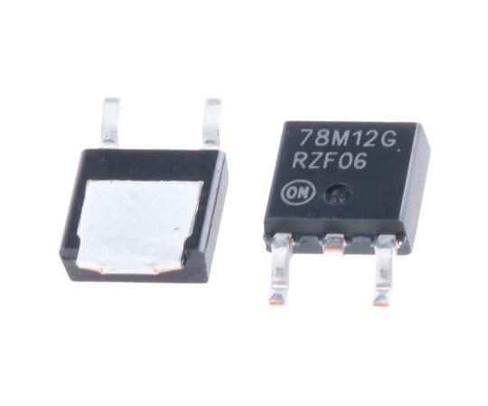 正電圧 3端子レギュレータ 12 V 700mA 固定出力 表面実装 DPAK 3-Pin  MC78M12CDTG