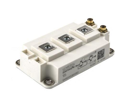 Nチャンネル IGBTモジュール 1200 V 260 A 7-Pin SEMITRANS3  SKM200GB126D