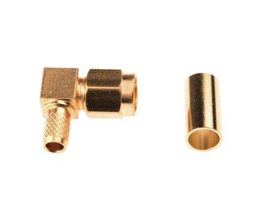 同軸コネクタ ケーブルマウント プラグ ライトアングル 圧着  1-1478923-0