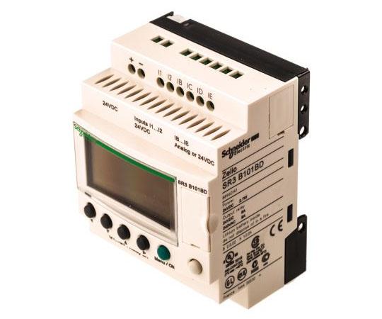 ロジックモジュール ディスプレイ付き リレー 4 x Output 24 V dc Zelio Logic  SR3B101BD