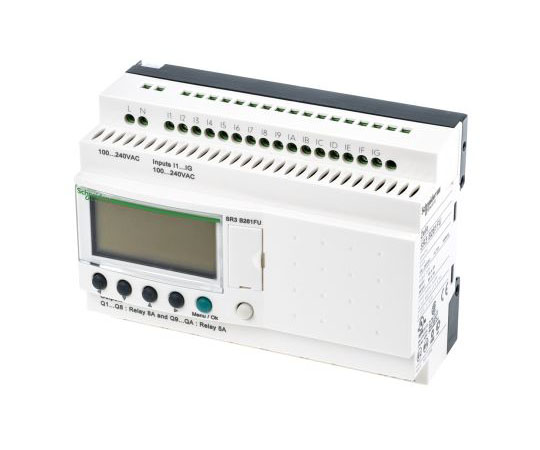 ロジックモジュール ディスプレイ付き リレー 10 x Output 100 → 240 V ac  SR3B261FU
