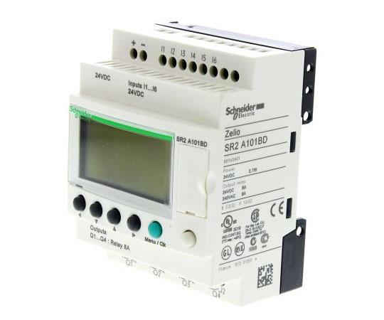 ロジックモジュール ディスプレイ付き リレー 4 x Output 24 V dc Zelio Logic  SR2A101BD