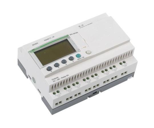 ロジックモジュール ディスプレイ付き リレー 8 x Output 24 V dc Zelio Logic  SR2A201BD