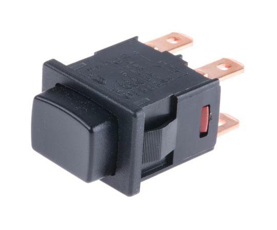 押しボタンスイッチ 16 A @ 250 V ac ラッチ パネルマウント 2極オン / オフスイッチ  1684.1101