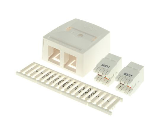 [取扱停止]据え置き型ボックス 2極  SSY-00007-02