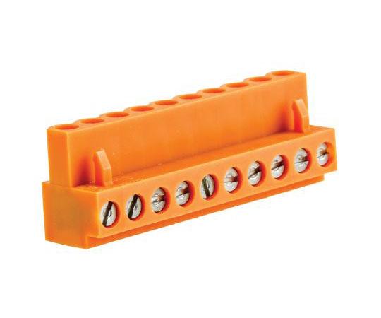 [取扱停止]基板用端子台 BL 3.81シリーズ 5.08mmピッチ 1列 10極 オレンジ  1716400000