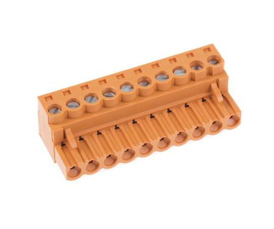 基板用端子台 BL 5.08シリーズ 5.08mmピッチ 1列 10極 オレンジ  1527260000
