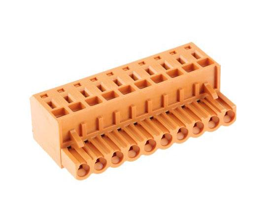 基板用端子台 BL 5.08シリーズ 5.08mmピッチ 1列 10極 オレンジ  1707540000