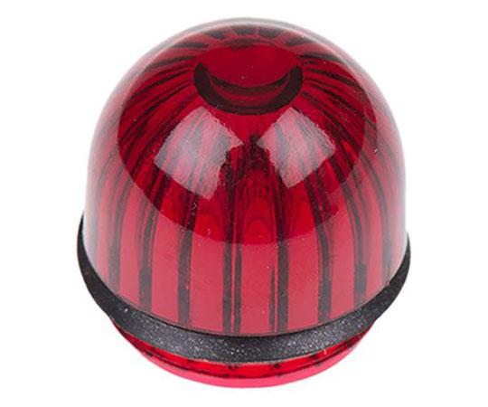 インジケータ レンズ 赤 ドーム型 15.86mm  052-3191-003
