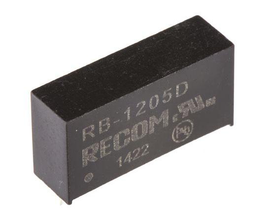 絶縁DC-DCコンバータ Vout:±5V dc 10.8 → 13.2 V dc 1W 12 V dc  RB-1205D