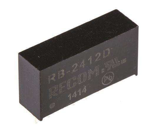 絶縁DC-DCコンバータ Vout:±12V dc 21.6 → 26.4 V dc 1W 24 V dc  RB-2412D