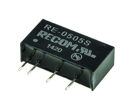 絶縁DC-DCコンバータ Vout:5V dc 4.5 → 5.5 V dc 1W 5 V dc  RE-0505S