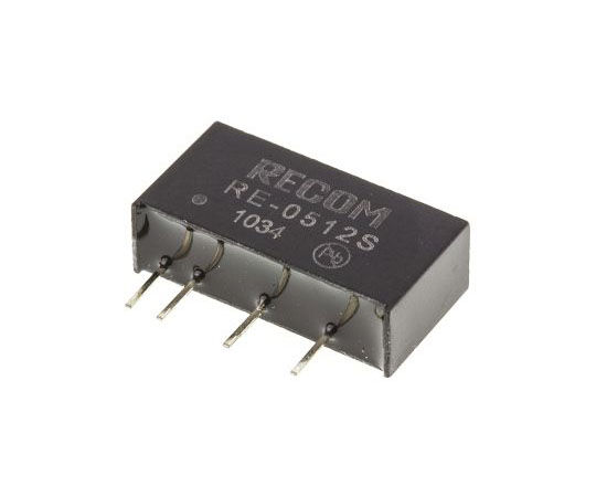 絶縁DC-DCコンバータ Vout:12V dc 4.5 → 5.5 V dc 1W 5 V dc  RE-0512S