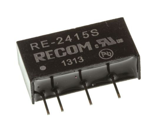絶縁DC-DCコンバータ Vout:15V dc 21.6 → 26.4 V dc 1W 24 V dc  RE-2415S