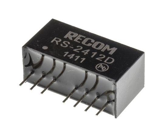 絶縁DC-DCコンバータ Vout:±12V dc 18 → 36 V dc 2W 24 V dc  RS-2412D