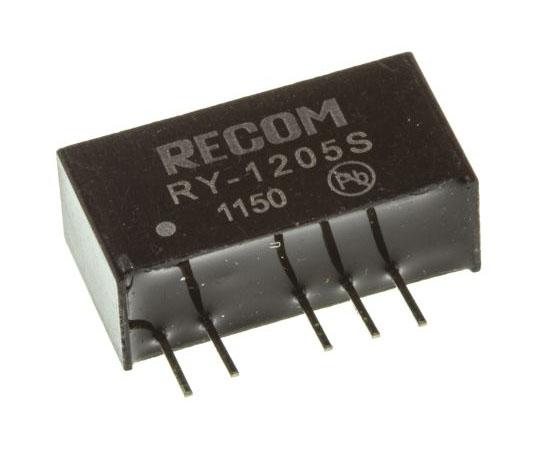 絶縁DC-DCコンバータ Vout:5V dc 11.4 → 12.6 V dc 1W 12 V dc  RY-1205S