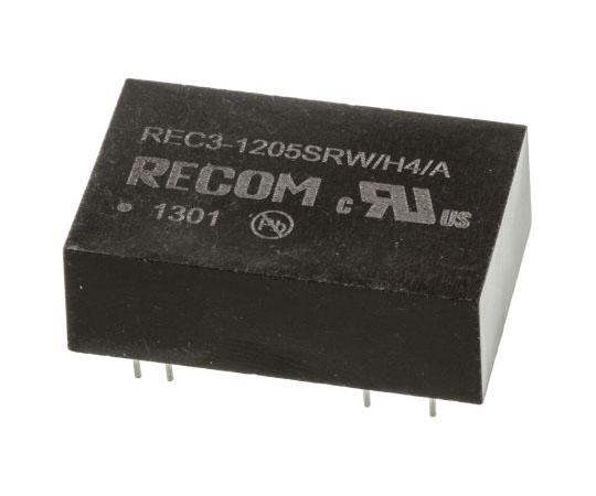 絶縁DC-DCコンバータ Vout:5V dc 9 → 18 V dc 3W 12 V dc  REC3-1205SRW/H4/A