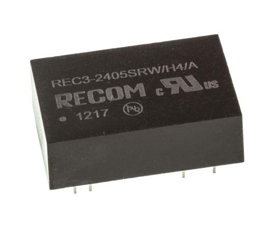 絶縁DC-DCコンバータ Vout:5V dc 18 → 36 V dc 3W 24 V dc  REC3-2405SRW/H4/A